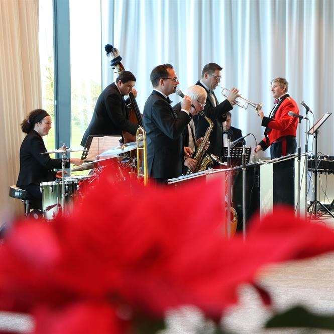 The Antonio Socci Jive and Swing Band playing at the 2018 event.