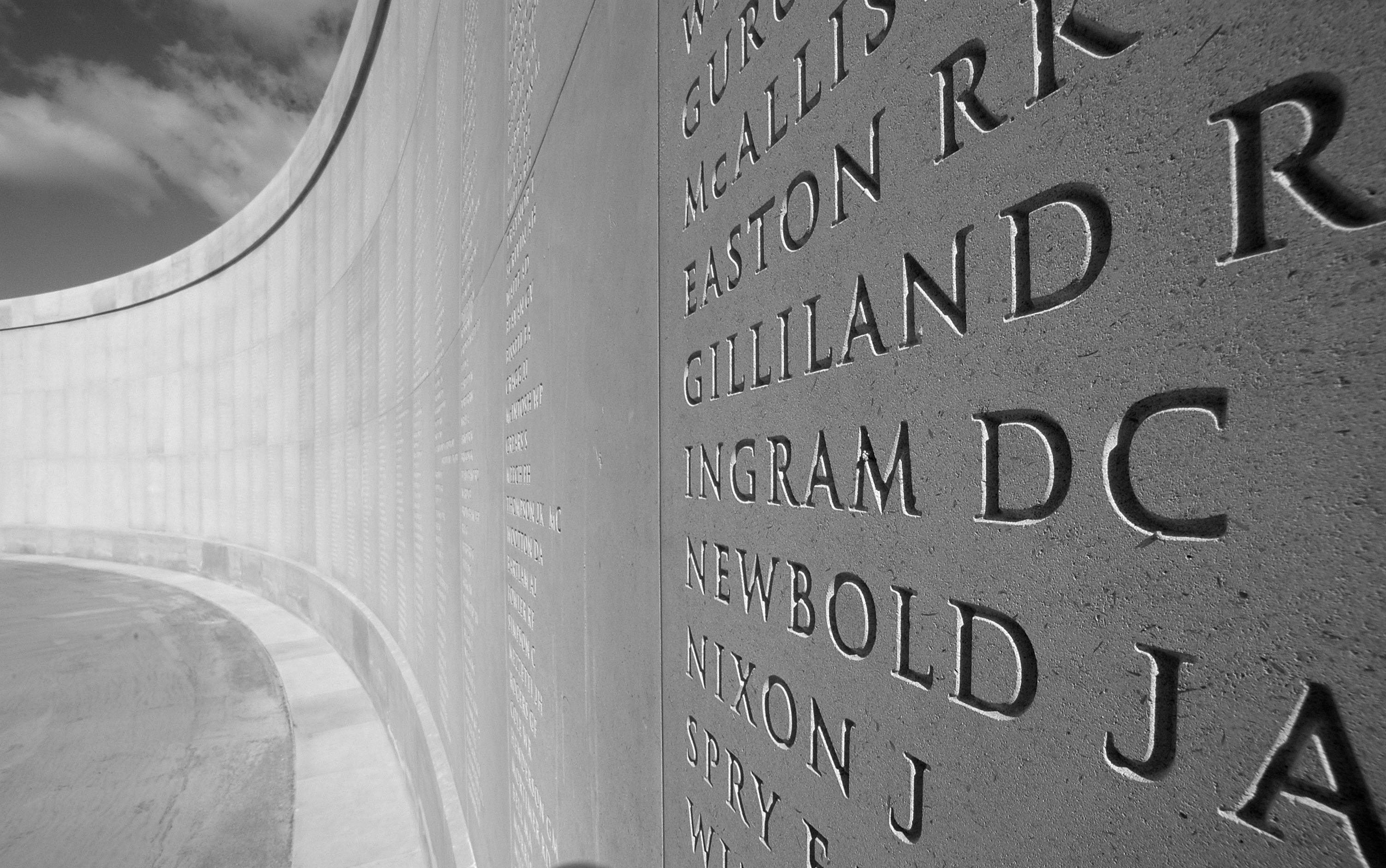 Names on the Armed Forces Memorial