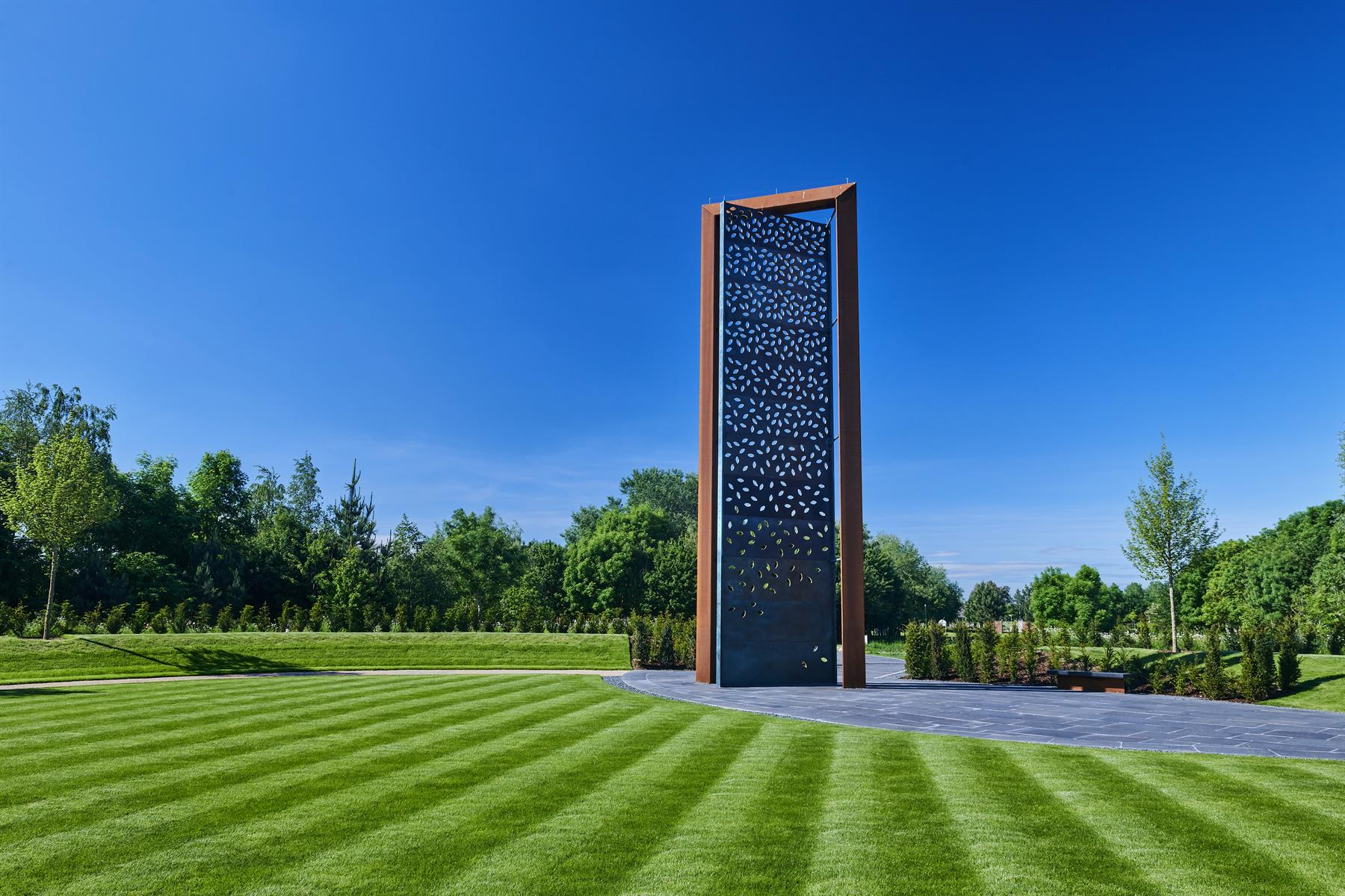 A ground level image of the UK Police Memorial