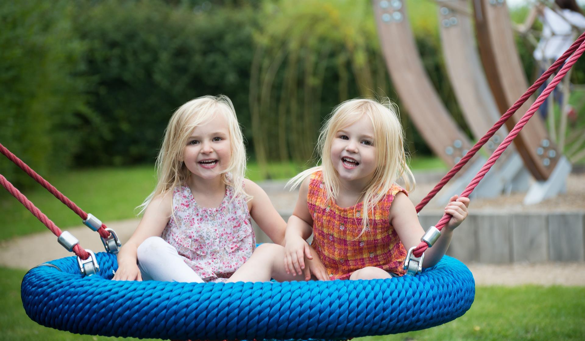 Children in Sensory Play Garden